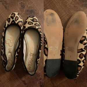 Sam Edelman woman's cheetah print flats size 9